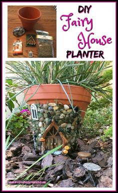 Whimsical DIY Fairy House Planter