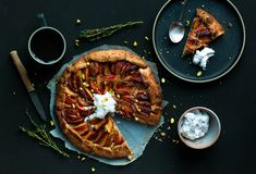Buckwheat plum galette with whipped coconut cream. Recipe on lealou.me.
