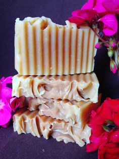 Summer Garden Soap  This soap is scented with geranium essential oil. It will remind you of warm summer days surrounded by flowers.