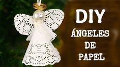 Ángeles de bricolaje en papel para poner en tu árbol de Navidad