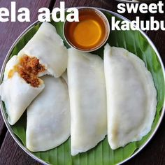 "Hebbar's Kitchen on Instagram: ""elayappam recipe   ela ada recipe   ila ada   kerala valsan #Laddu #Coconut #Turmeric #BattlestarGalactica #BananaLeaf #Dough #RiceFlour…"""