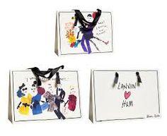 alber elbaz illustrations - on Lanvin paper bags