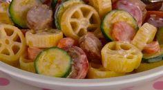 Giada's Round and Round Pasta (kid-approved): http://www.foodnetwork.com/recipes/giada-de-laurentiis/round-and-round-pasta-recipe/index.html