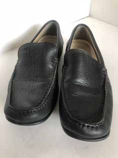 bdce154b637 ECCO men s Black leather driving loafers size 45 (11-11.5) Latex Slip Extra  Wide  fashion  clothing  shoes  accessories  mensshoes  casualshoes (ebay  link)