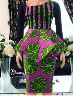 Fashionista Ladies Ankara short skirt and blouse can be so good an amazing as it allows you walks freely and it gives good fittins.you can rock simple ankara Ankara Dress Designs, Ankara Dress Styles, Kente Styles, African Print Dresses, African Dress, Blouse Styles, African Fashion Ankara, Latest African Fashion Dresses, African Print Fashion