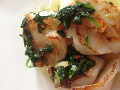 Pan fried Scallops with red chilli, garlic & coriander butter