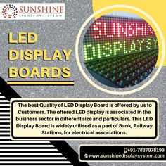 Choose from the wide range of high quality LED display boards according to the location and optimal requirements only at Sunshine Display System. Led Display Board, Led Sign Board, Video Wall, Led Signs, Vibrant Colors, Sunshine, Raw Material, Messages, Superior Quality
