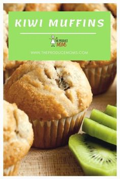 160 reviews  25 minutes  Makes 24 muffins  Kiwi muffins recipe with milk and hint of cinnamon. Quick and easy homemade muffin recipes with kiwi fruit. | The Produce Moms #muffins Kiwi Fruit Recipes, Juicer Recipes, Blender Recipes, Salad Recipes, Pasta Recipes, Chicken Recipes, Make Ahead Breakfast, Sweet Breakfast, Desert Recipes