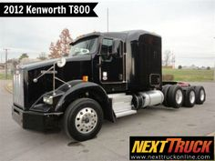 """Our featured #truck is 2012 #Kenworth T800, Cummins ISX15, 485 HP, 3.73 Ratio, 264"""" WB, 72"""" Aerocab Flat Top #Sleeper. Check out this week's recently added trucks at http://www.nexttruckonline.com/trucks-for-sale/All-Categories/All-Makes/All-Models/results.html?days_old-max=7 #TrucksForSale #Trucking #SemiTrucks #NextTruck"""