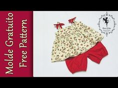 Video 1 Top and Shorts 1 a 4 anos Baby Girl Frocks, Frocks For Girls, Baby Dress Design, Frock Design, Sewing Baby Clothes, Baby Sewing, Baby Dress Patterns, Sewing Patterns, Little Girl Pageant Dresses