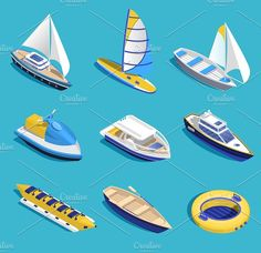 Buy Sea Activities Set by macrovector on GraphicRiver. Sea activities isometric set on blue background isolated vector illustration. Editable EPS and Render in JPG format Business Illustration, Digital Illustration, 3d Modellierung, Sea Activities, Isometric Design, Vector Art, Image Vector, Blue Backgrounds, Icon Design