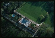 Aerial view of Miller House and Garden | photo by Balthazar Korab, from the Library of Congress files