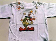 PEZ MALABARISTA. Acrílico sobre camiseta de algodón. 1998
