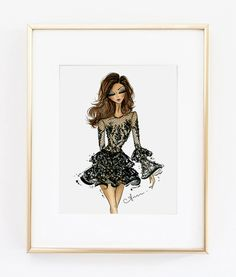 Fashion Illustration Print Zuhair Murad Couture Fall 2016 by anumt