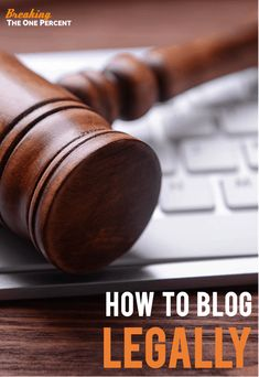 Started a blog but not sure about all the legal jargon? Want to make sure you have all the right polices, rules, and regulations addressed before you start trying to make money with a blog? This legal guide for bloggers is the perfect place to start. See the 3 legal documents you MUST have when you start a blog to help protect you from getting sued.