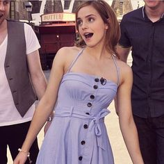This picture is unrealistically cute I love Emma Stolen from @hermione_jackson I changed my username Btw, has anyone else noticed the TARDIS noise in Shake It Off? Listen at the beginning of the rap part. It's there. #emmawatson #emma #watson #cute #dress #shakeitoff #harrypotter #hp #harry #potter #tardis #tardisnoise