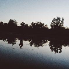 Before dawn.