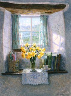 Daffodils in the Inglenook - Stephen Darbishire