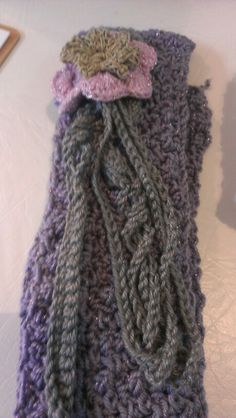 Purple scarf and flower head band