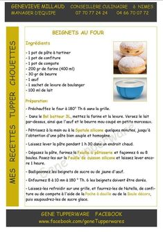 Beignets au four Tupperware Tupperware Recipes, Cookbook Recipes, Tupperware Pressure Cooker, Pancake Muffins, My Dessert, Patriotic Party, World Recipes, Churros, Recipes