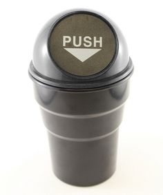 Take a look at this Black Cup Holder Trash Can on zulily today!