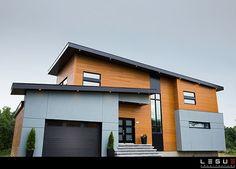 Certainteed semi-transpareunt couleur cèdre (Photo de Jeffrey Leguë Concepteur en architecture)