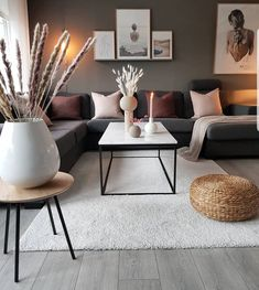 Beautiful Nordic living room inspiration in 2020 Nordic Living Room, Living Room Grey, Home Living Room, Apartment Living, Interior Design Living Room, Living Room Designs, Interior Livingroom, Brown Living Room Furniture, Modern Small Living Room
