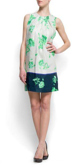 Contrast Stratight Cut Dress