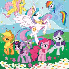 My Little Pony Friendship is Magic Mural - http://www.godecorating.co.uk/little-pony-friendship-magic-mural/