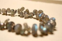 LOVE Labradorite, Necklace y QuietMind on Etsy, $60.00 price reduced 20%