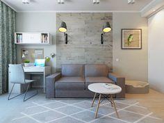 Salones de estilo escandinavo de Ekaterina Donde Design
