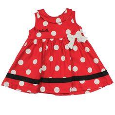 Vestido Regata com Poá - Vermelho, Preto e Branco - Minnie - Disney - Ri Happy