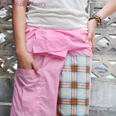 pink plaid  cotton thai fisherman  pants 2 tone by meatballtheory, $15.00