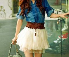love the denim and fluff!