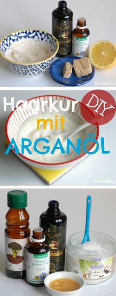 Haarmasken mit Arganöl zur selber machen ♥ 5 tolle, super eifache Rezepte für kaputte, trockene Haare. OHNE Silikone ♥ OHNE Alkohol & Konservierungsstoffe ✓