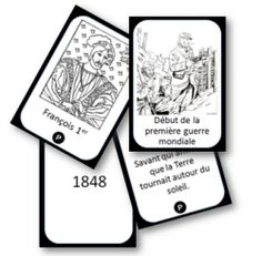 """Jeu de cartes pour mémoriser les """"repères"""" d'Histoire. - Charivari à l'école"""