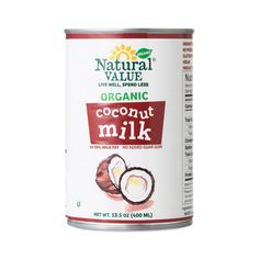 Add creamy flavor to sauces and desserts—without the dairy. Natural Value® full-fat Organic Coconut Milk is the perfect substitute for milk or cream, without compromising the delicious taste. You'll know it's pure and organic the second you open the can and see real coconut chunks. Simply warm the contents of the can to get it back to liquid form.