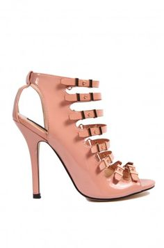 Desiree Strappy Heel in Blush Patent | Strappy Heels | ShopAKIRA.com