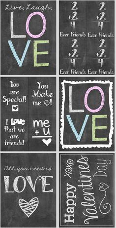 Free chalkboard Valentine's Day printables - and a blog post regarding a non-sweet Valentine's Day gift for your child's class!
