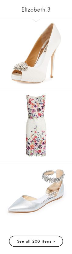 """""""Elizabeth 3"""" by mel-grey-lannister ❤ liked on Polyvore featuring shoes, pumps, white pattern, white slip on shoes, white shoes, slip on shoes, white platform shoes, white pumps, dresses and floral print dress"""