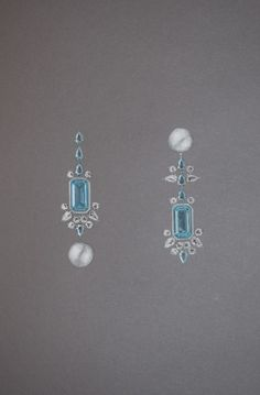 Aquamarine Drop earrings More