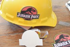 Jurassic Park Ranger Costume – Get some kid hard hats from amazon add stickers