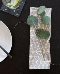 Triangle Linen Cocktail Napkins - Cotton & Flax