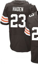 """$78.00--Joe Haden Jersey - Elite Brown Home Nike Stitched Cleveland Browns #23 Jersey,Free Shipping! Buy it now:click on the picture, than click on """"visit aliexpress.com"""" In the new page."""