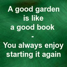 A good garden is like a good book - While I love starting again in the Spring, I'm not so keen on reading a book over again.