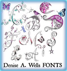 Alphabet Fonts by Denise A. Wells | Flickr - Photo Sharing!