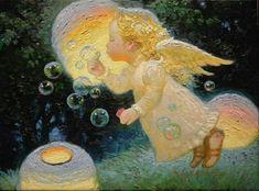 "Képtalálat a következőre: ""Victor Nizovtsev"" Victor Nizovtsev, Angel Drawing, I Believe In Angels, Angels Among Us, Angel Art, Fairy Art, Christmas Angels, Faeries, Love Art"