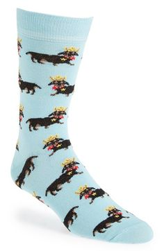 Topman+Cowboy+Dachshund+Pattern+Socks+available+at+#Nordstrom