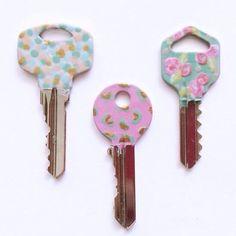 Чтобы ключи не путать. Необычное применение лака для ногтей.