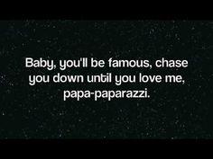 Lady Gaga - Paparazzi Lyrics